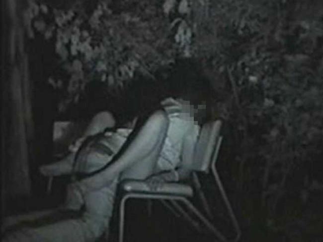 【ヌード画像】公園での素人SEXを赤外線盗撮した画像集!盗撮されようが蚊に刺されようがとにかくSEX!ww(50枚) 46