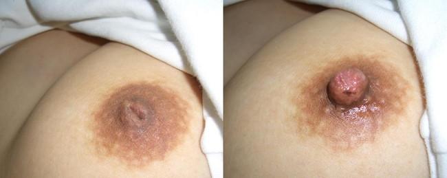 【ヌード画像】全力で吸い付きたくなる陥没乳首!勃起させるまでの振れ幅最高の陥没乳首エロ画像集!(50枚) 35