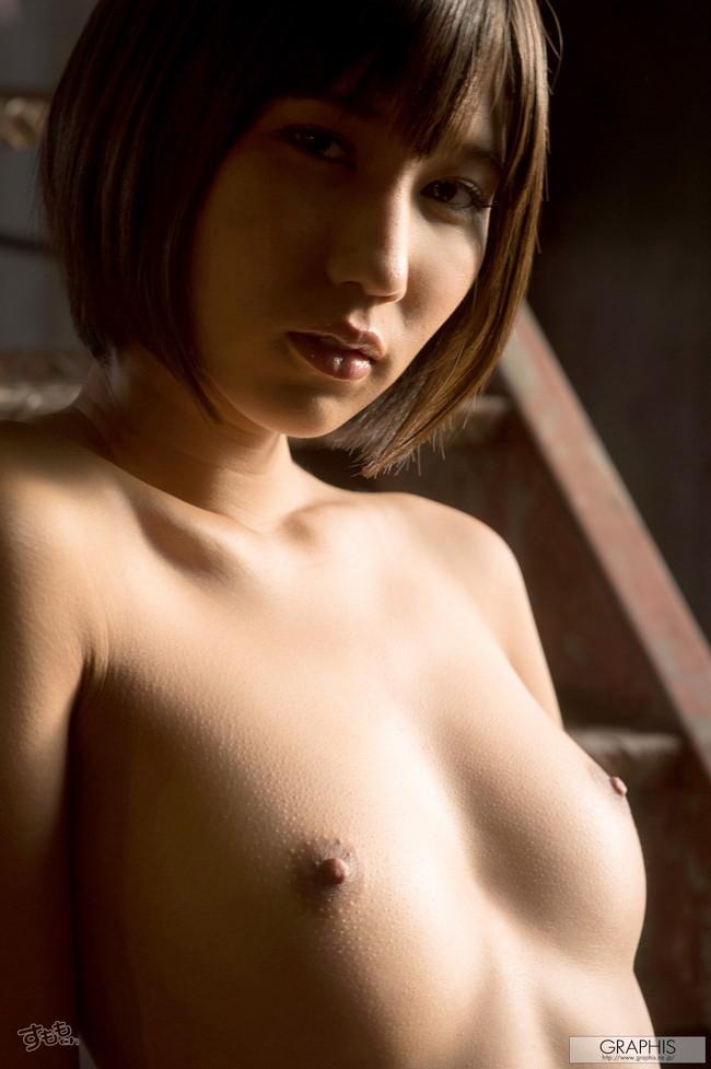 【ヌード画像】最強のショートボブAV女優湊莉久のワビサビのある超エロいヌード画像を集めたら究極にエロくなった!(50枚) 34