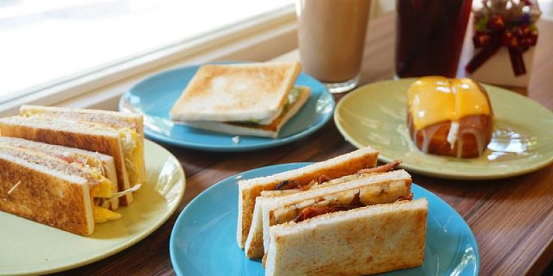 """【新北中和早午餐】福來早餐  *♥中和環球旁早午餐""""煉乳起司炸饅頭""""板烤吐司"""