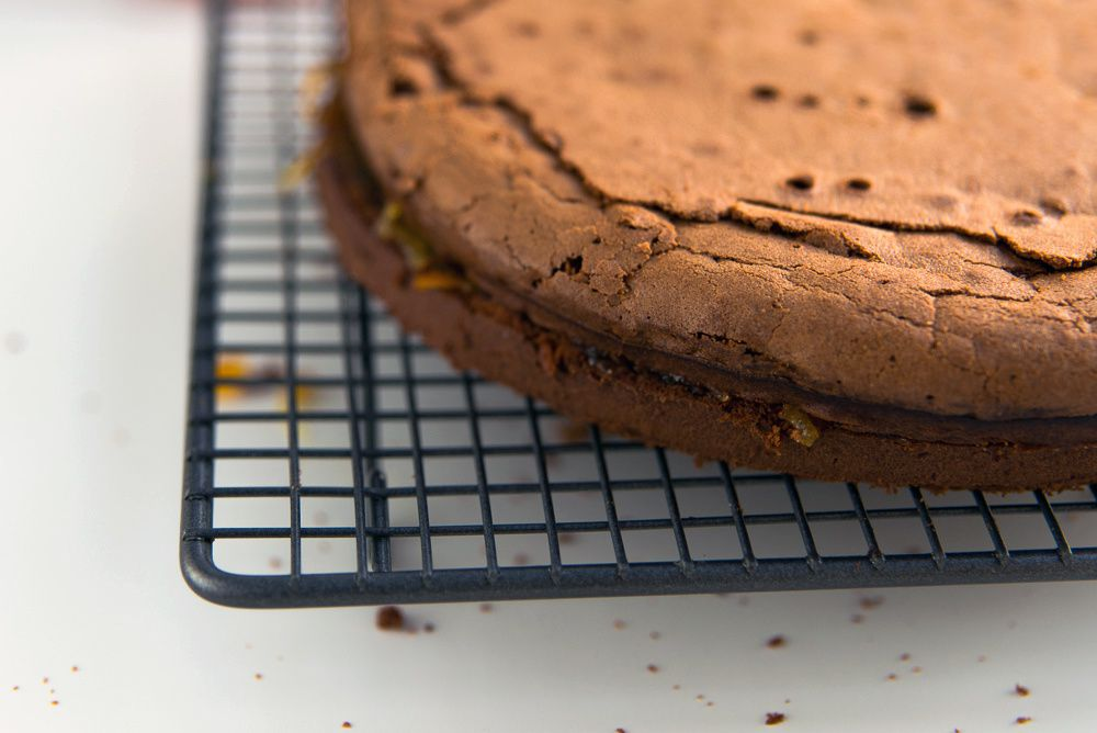 Chocolate Cake with Bitter Orange Marmalade