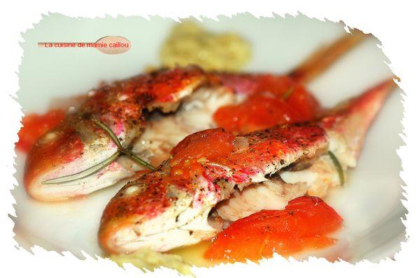 Rougets barbets sauce aux anchois - LA CUISINE DE MAMIE CAILLOU