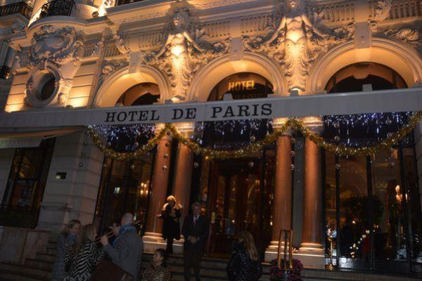 sapins de noël hôtel de Paris monaco