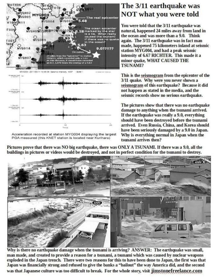 Japon: Le séisme du 11 mars n'était pas naturel (Vrai sismogramme de la catastrophe). Flyer