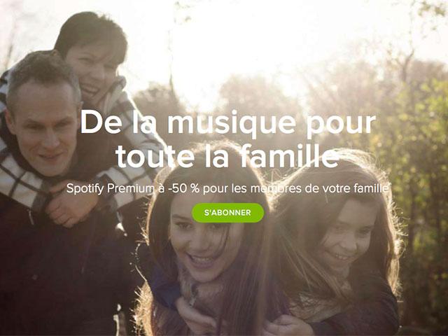 Spotify abonnement famille