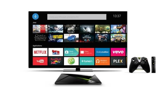 nvidia shield interface android tv