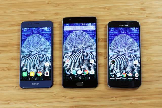 Honor 8 vs Galaxy S7 vs OnePlus 3 lequel à le meilleur lecteur d'empreintes