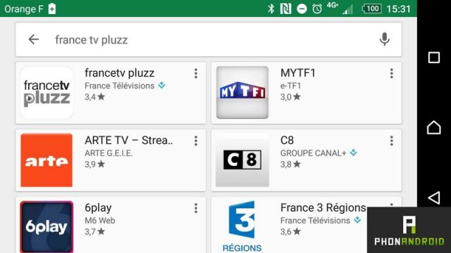 applications chaines tv