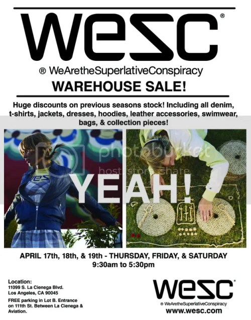 WESC Warehouse SALE