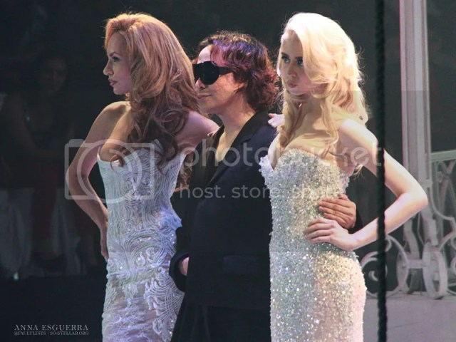 Dominique, Michael Cinco and muse Allison Harvard after the show