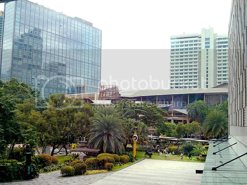 Fairmont hotel and Greenbelt 3 cinemas