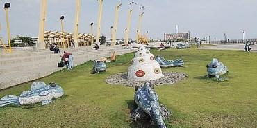 景點‧旗津|既可看海又可放風箏、遛小孩的好地方《旗津風車公園》