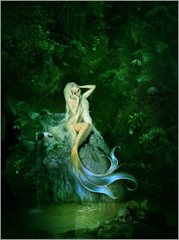 Mermaid prints   posters from     6 95   Free delivery   Posterlounge Elena Dudina   Mermaid    s cave