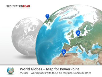 PresentationLoad   World Map   Globe Bundle World Globes   with countries