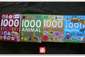 【1000 STICKERS貼紙書】最新藍本1000 Playtime Stickers無框更自由!