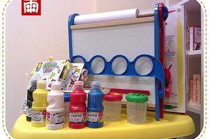 再往氣質文藝小少女邁進!試用ALEX折疊畫架、浴室貼貼樂、GIOTTO兒童顏料