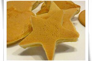【雨の食事】無奶蛋的愛心星星鬆餅、圓煎餅