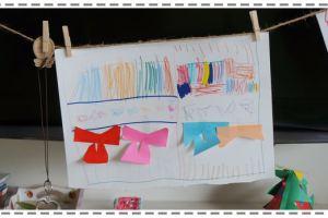 居家小小藝廊,分享一點居家幼兒畫作展示空間改造方法