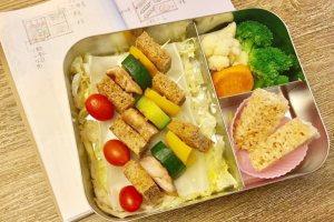 【便當日記】#15 校外教學日&烤土司串 Bento #15 Toast Skewer