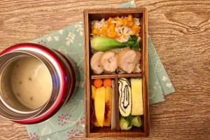 【便當日記】#39 雞肉叉燒與沾麵醬Bento #39 Chicken Char Siu And Noodle Soup Base