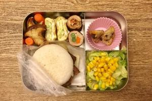 【便當日記】#42 里肌捲三蔬 Bento #42 Pork Roll-Ups With Veggies
