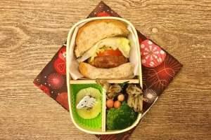 【便當日記】#51 手工豬肉漢堡排Bento #51 Homemade Pork Burgers