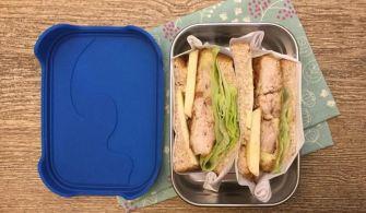 【便當日記】#59 蘋果雞排三明治Bento #59 Chicken and Apple Sandwich