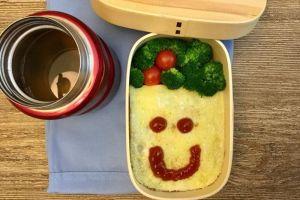 【便當日記】#72蛋包飯Bento #72 Smile-omurice (Japanese Omelette Rice)