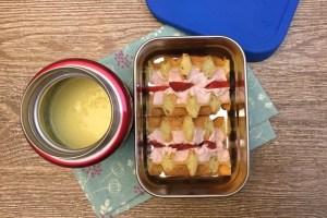 【便當日記】#73草莓夾心鬆餅與玉米濃湯Bento #73 Strawberry Waffles and Creamy Corn Soup