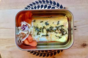 【便當日記】#86、87玉子燒鍋煎蛋包飯Bento #86,87 Omelette Rice in Japanese Omelette Pan