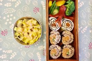 【便當日記】#91電子鍋煮不油膩台式油飯,再變身海苔壽司