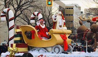加拿大旅記。聖誕老人花車遊行(內有活動)Santa Parade in Canada