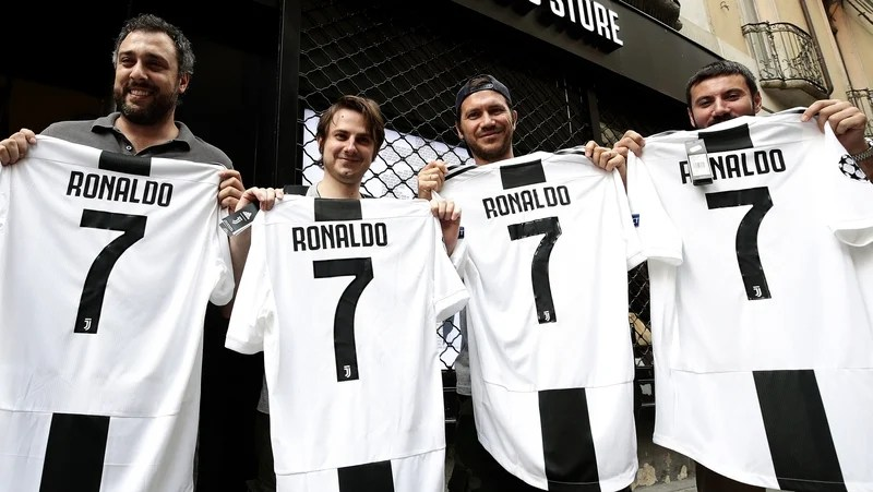 Ronaldo completes    100m Juventus switch Juventus fans were quick to purchase the new Ronaldo jersey   no surprise  what number the