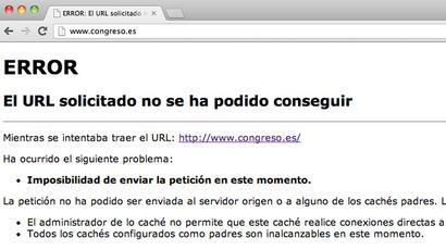 Screenshot from www.congreso.es