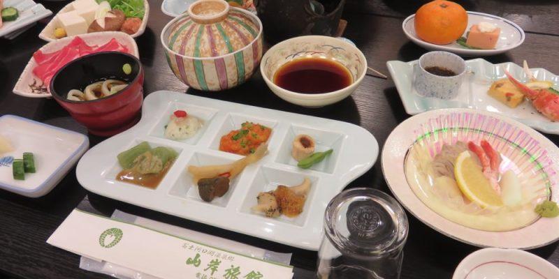《日本河口湖》山岸旅館 Yamagisi Ryokan 晚餐 早餐