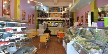 《南美》祕魯。阿雷基帕。Ice Palace。沒起司的牛奶冰淇淋~肉桂你好