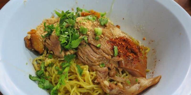 泰國清邁。3D Art Museum對面的小餐館 Pork with Rice Chinese Style