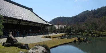 京都嵐山。天龍寺。Ten-Ryu-Ji 史蹟名勝 文化遺產 四季如春
