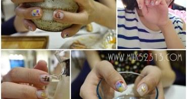 美甲│繽紛夏日!彩色逗趣的幾何拼圖凝膠指甲。新竹粉粉美甲工作室*