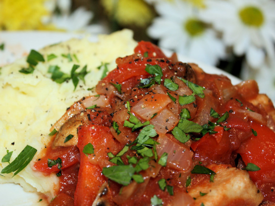 Paleo Chicken Cacciatore with Creamy Mashed Potatoes