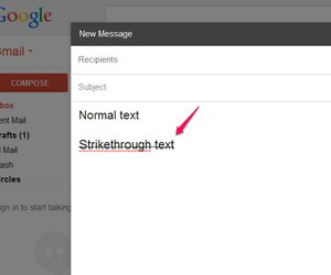 How to Do Strikethrough in Gmail   Techwalla com Paste the text in Gmail