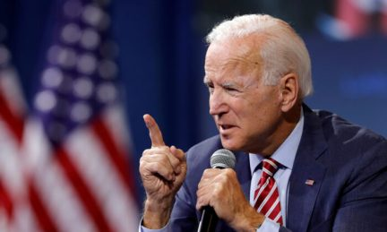 Democratic presidential candidate and former Vice President Joe Biden speaks during a forum in Las Vegas, Nev., on Oct. 2, 2019. (Steve Marcus/Reuters)