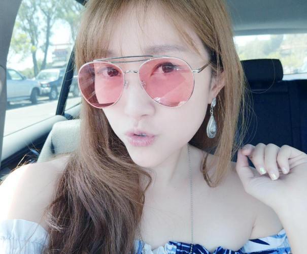 果凍粉紅色Sunglass