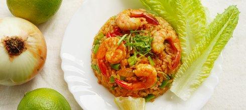 [食譜] 泰式蝦仁炒飯做法(南皮咆醬炒飯) ข้าวผัดกุ้งใส่น้ำพริกเผา