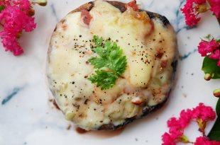 [食譜] 焗烤波特菇,紅酒波特菇做法(牛排菇做法)