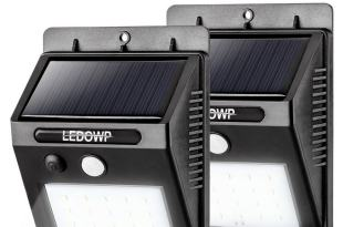 LEDOWP Solar Lights, 20 LED Solar Motion Sensor x 2 pack