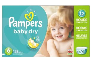 Pampers Baby Dry Diapers Size 6, 128 Count