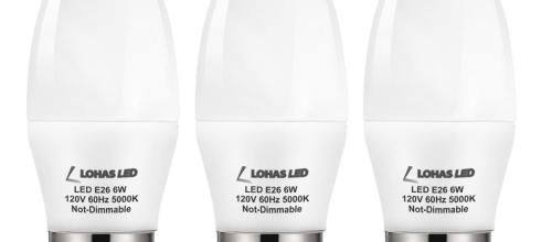 LOHAS Candelabra LED Bulbs 3 Pack