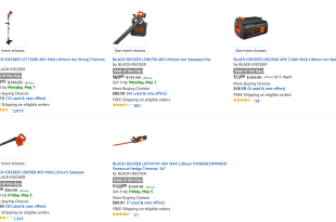 Save on BLACK+DECKER 40V Lawn & Garden Power Tools