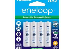 Panasonic Eneloop AA 2000mAh 2100 Cycle Ni-MH Pre-Charged Rechargeable Batteries 8 Pack